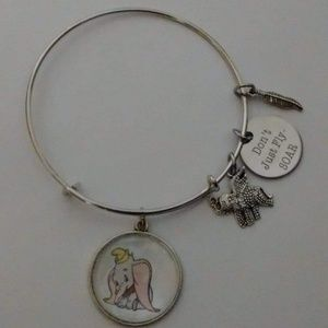 Jewelry - Disney Dumbo Silver Bangle Bracelet